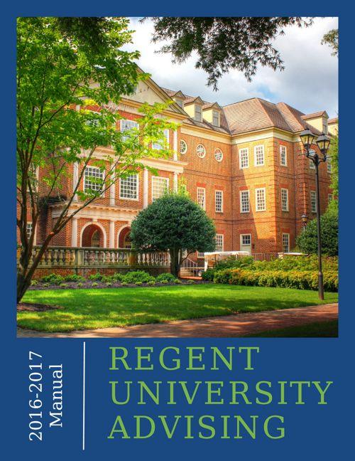 Regent University Advising Online Manual