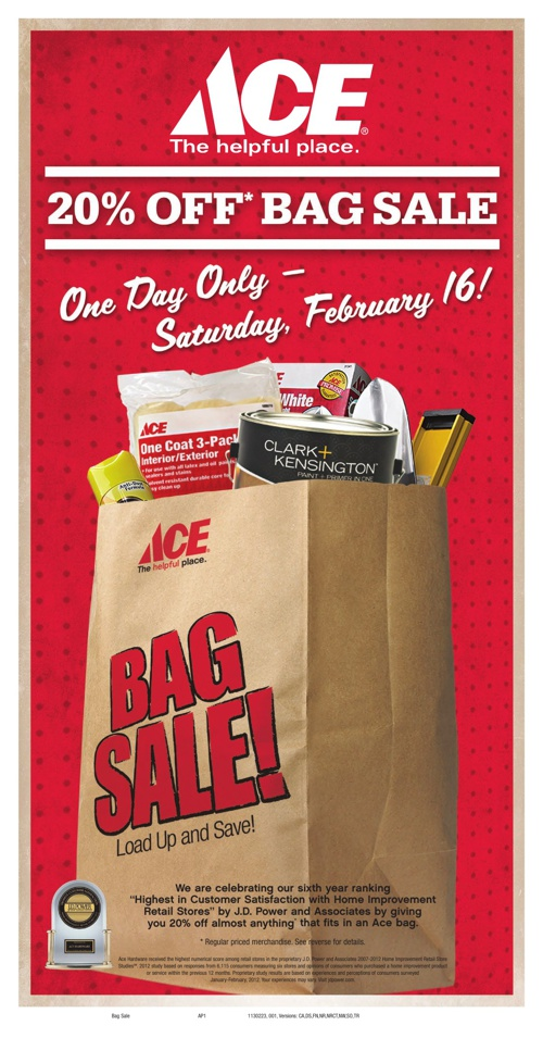20% Off Bag Sale! One Day Only- Saturday, February 16th!
