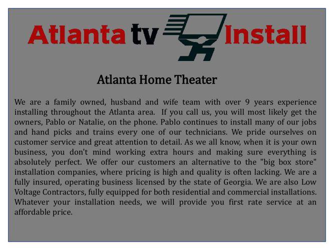 Atlanta Home Theater