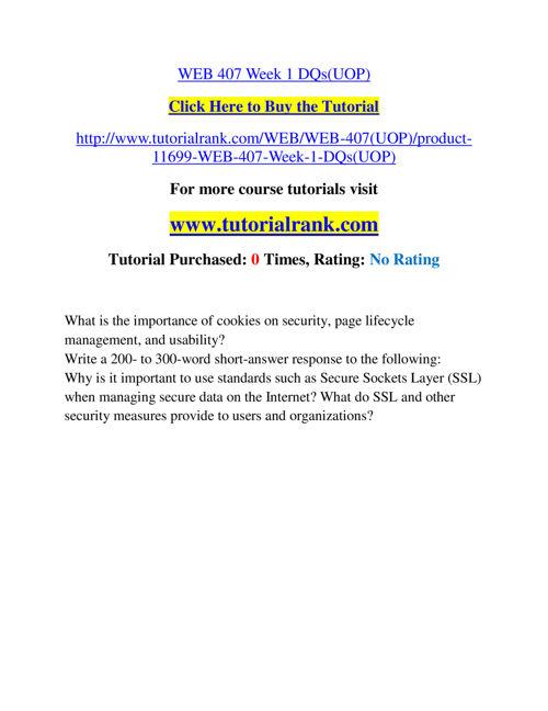 WEB 407 Slingshot Academy / Tutorialrank.Com