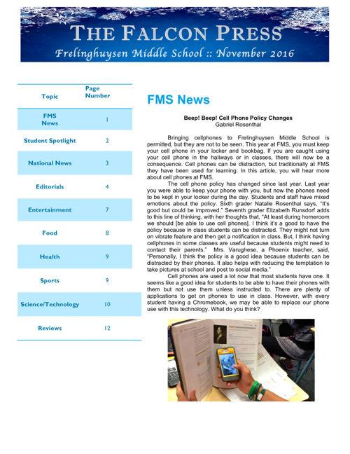 Falcon Press Edition 1 2016-2017
