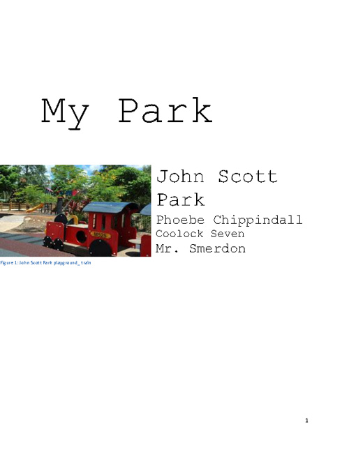 My Park By Phoebe Chippindall