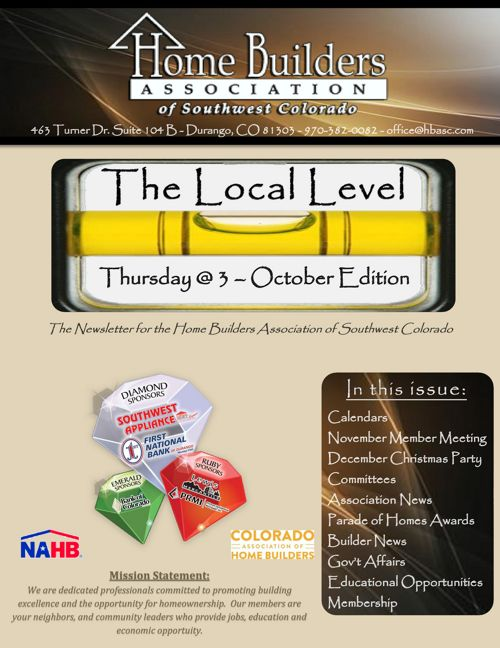 The Local Level ~ October Edition
