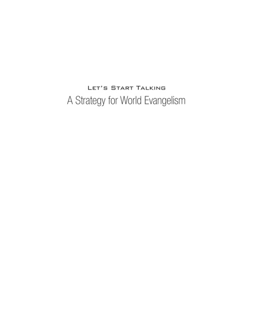 Let's Start Talking Strategy Book