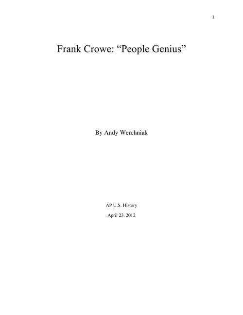 Frank Crowe