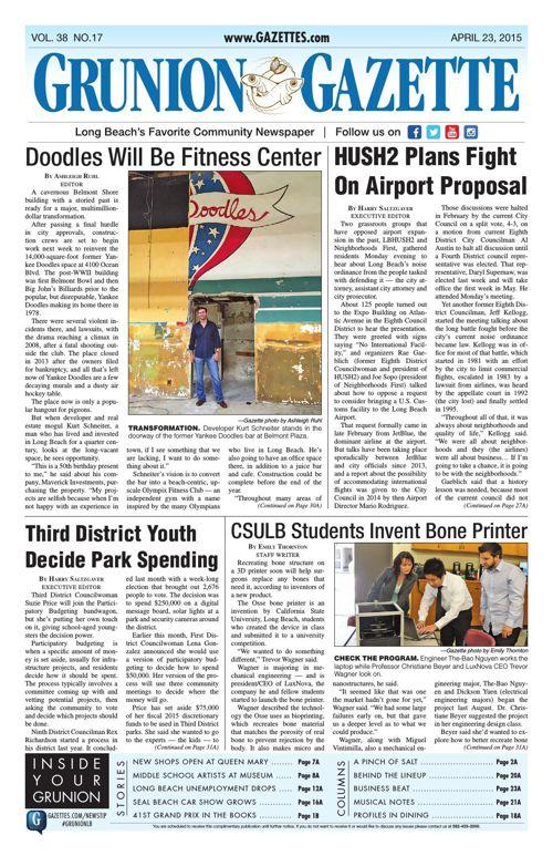 Grunion Gazette   April 23, 2015