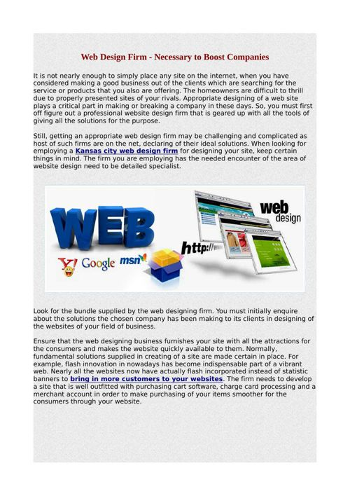 Web Design Firm - Necessary to Boost Companies