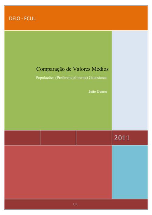 Comparação de Valores Médios