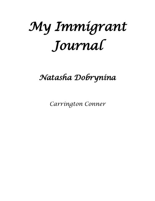 My Immigrant Journal