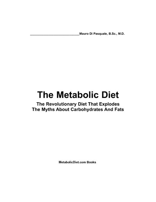 Metabolic Diet - Mauro Di Pasquale