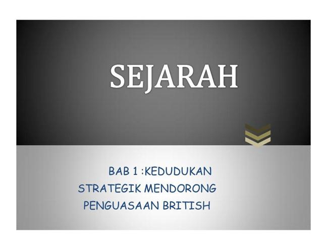 SEJARAH BAB 1 (TINGKATAN 2)