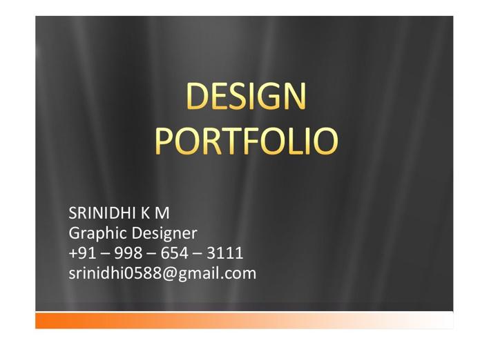 Srinidhi Resume & Portfolio