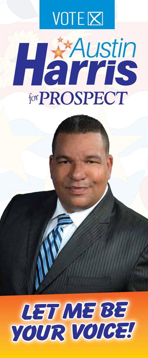 Vote Austin Harris Brochure