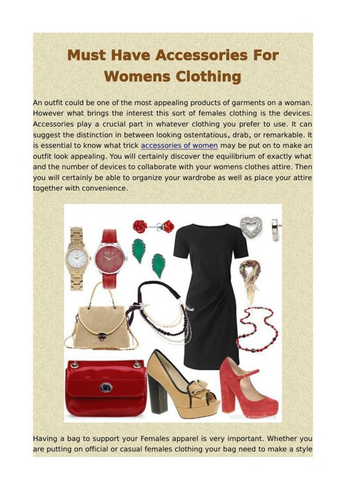 Must Have Accessories For Womens Clothing