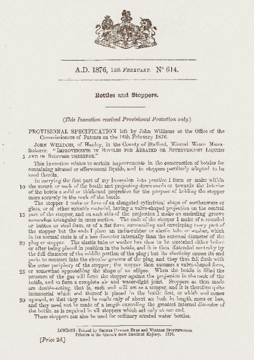 Patent GB614/1876