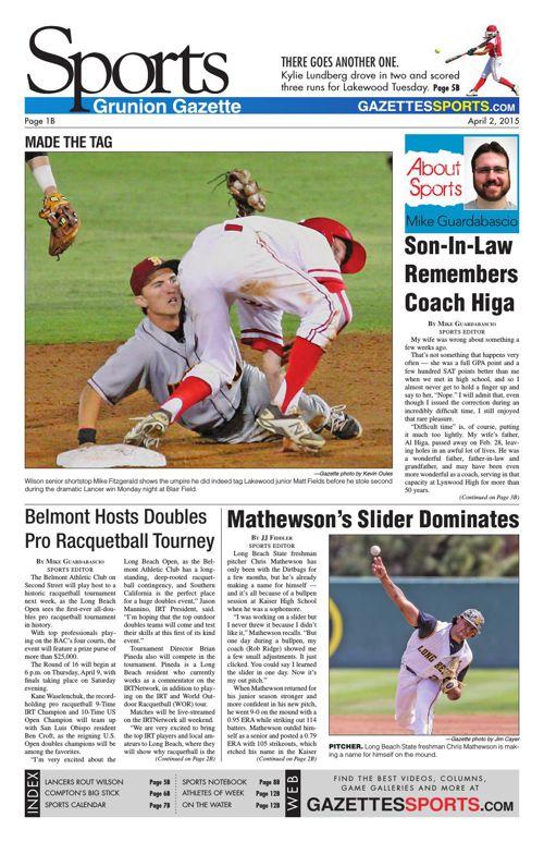 Gazette Sports | April 2, 2015