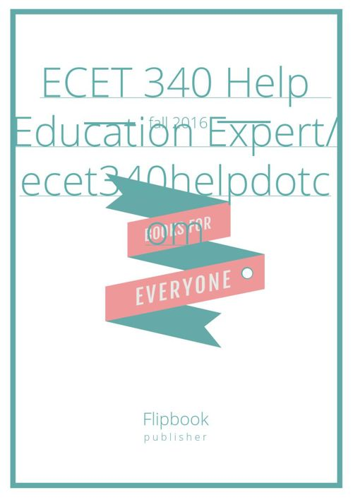 ECET 340 Entire Course (All ilabs and Homework) (Devry)