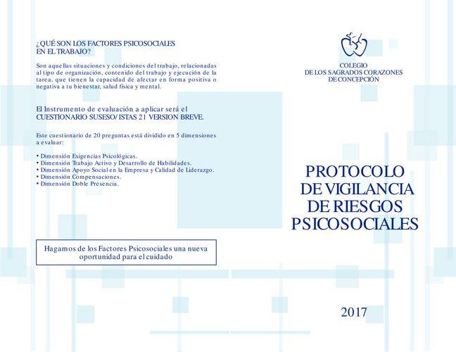 Protocolo de Vigilancia de Riesgo Sicosocial