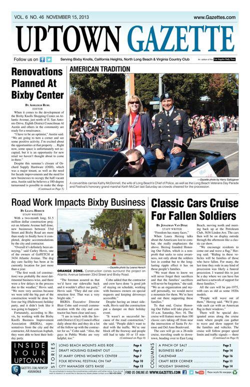 Uptown Gazette  |  November 15, 2013