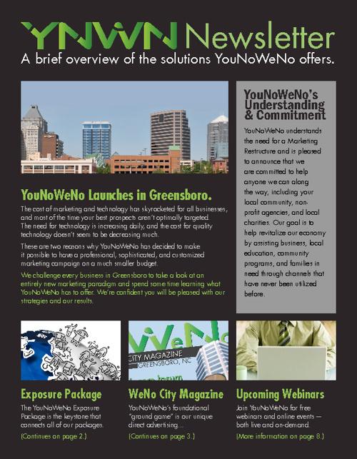 YouNoWeNo Newsletter