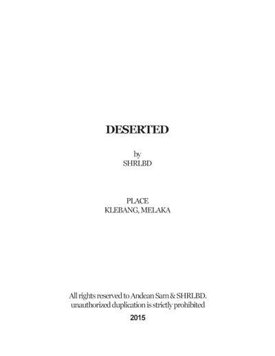 04 Deserted Pictorial by SHRLBD