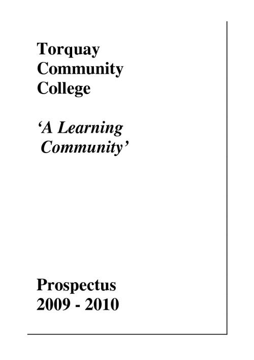 Torquay Academy Prospectus