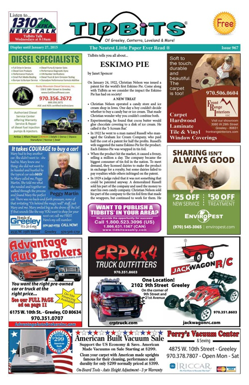Tidbits of Greeley/Centerra/Loveland, Issue 967