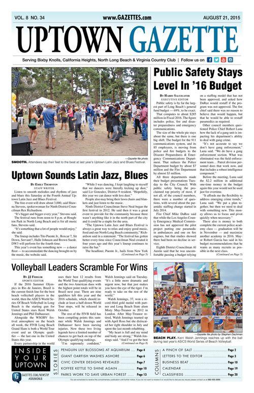 Uptown Gazette  |  August 21, 2015