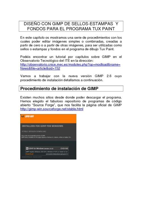 Diseño de sellos y estampas con GIMP para TUXPAINT