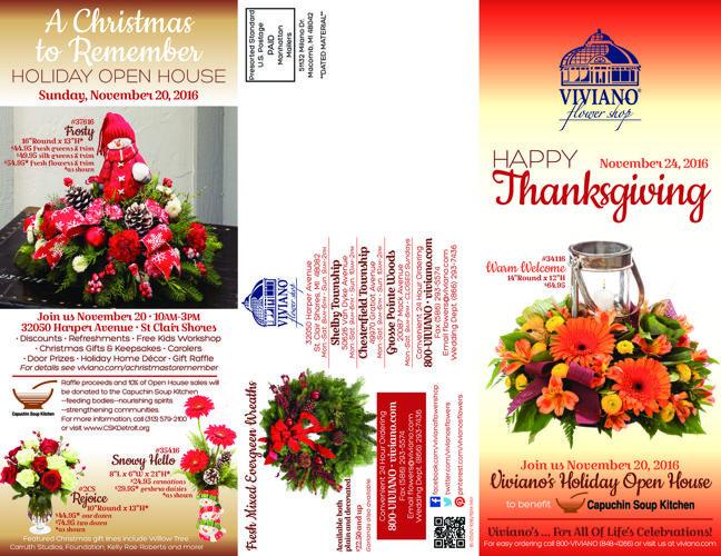 Viviano Flower Shop Thanksgiving 2016