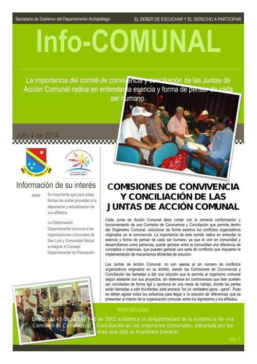 Boletin Infocomunal 001