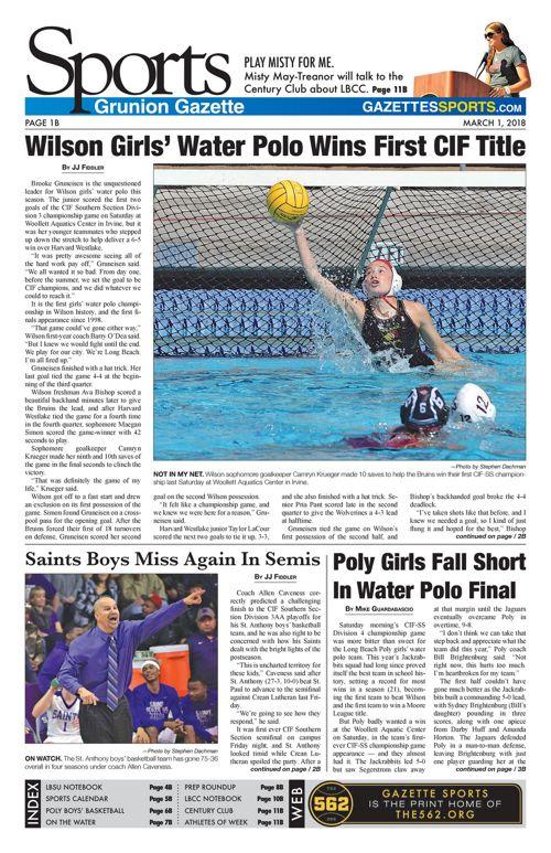 Gazette Sports 3-1-18