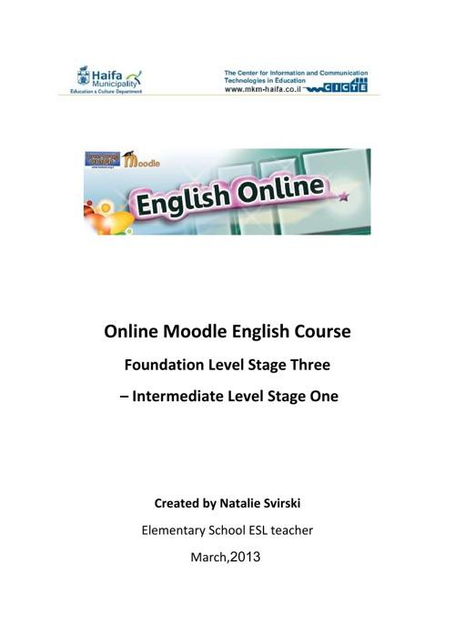 Online Moodle English Course