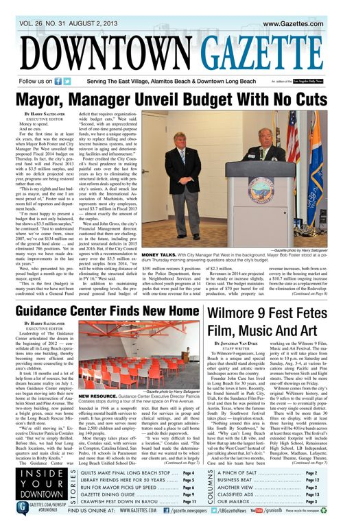 Downtown Gazette  |  August 2, 2013
