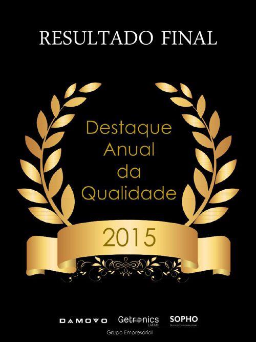 Destaque Anual da Qualidade  l  Premiação 2015