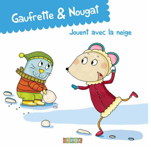 Gaufrette & Nougat jouent avec la neige
