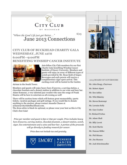 CCB June 2013 Newsletter