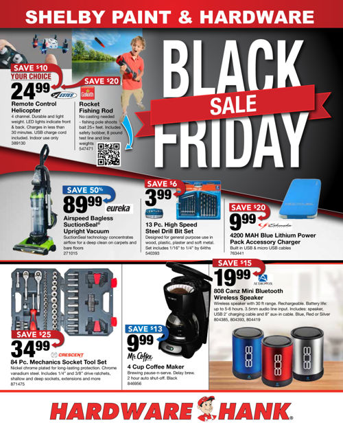 Shelby Paint and Hardware - Black Friday Sale