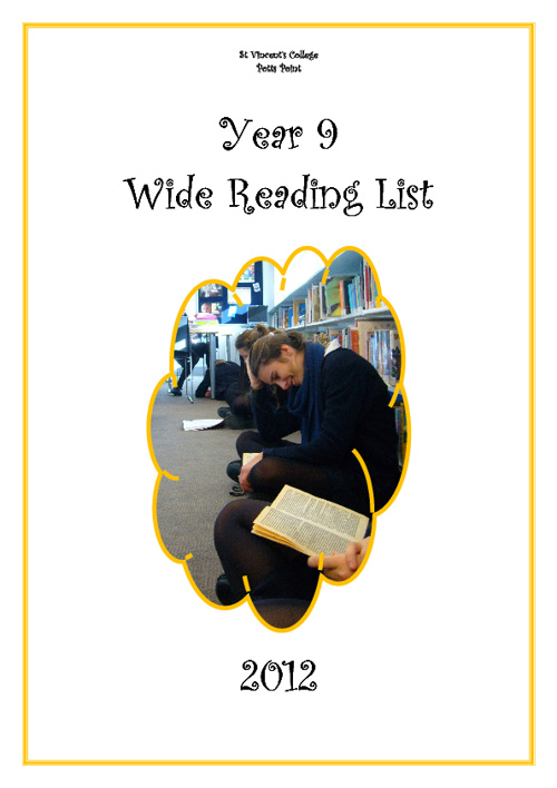 Year 9 Wide Reading List 2012