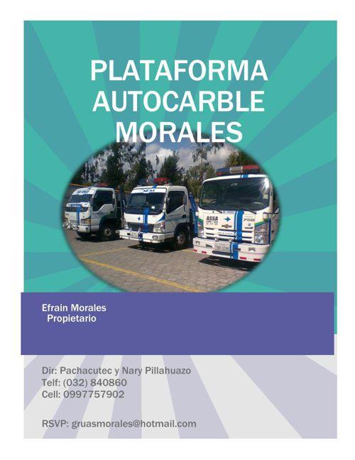 PLATAFORMA AUTOCARBLE MORALES revista