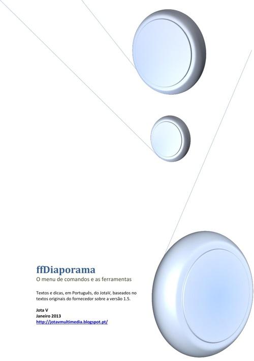 ffDiaporama - Menu de comandos e ferramentas