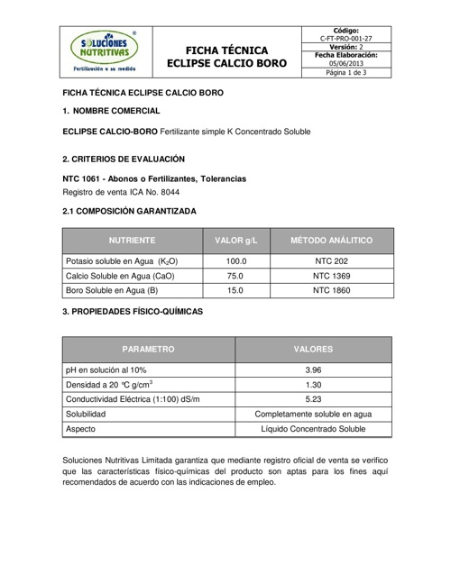 ECLIPSE CALCIO-BORO - Ficha Tecnica