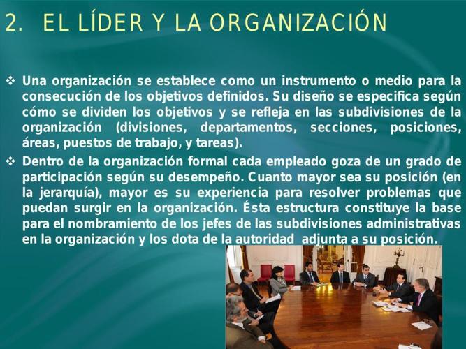 El Líder y la Organización