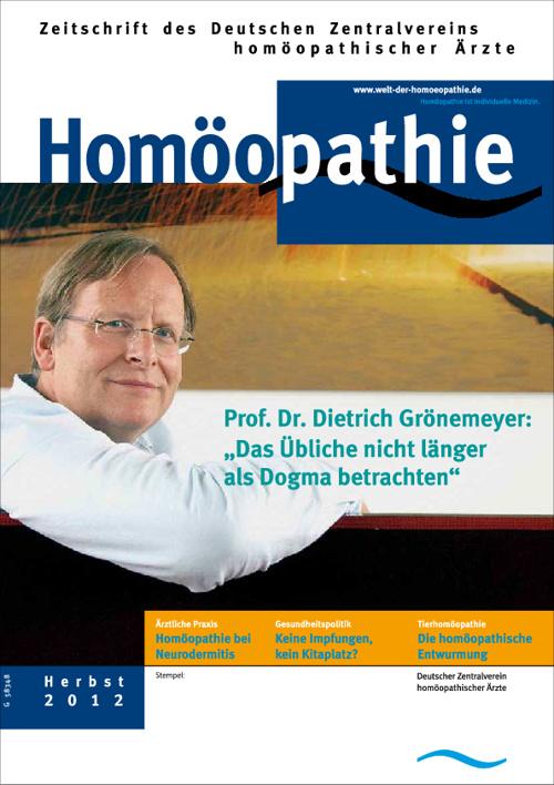 Leseprobe Homöopathie Herbst 2012, DZVhÄ