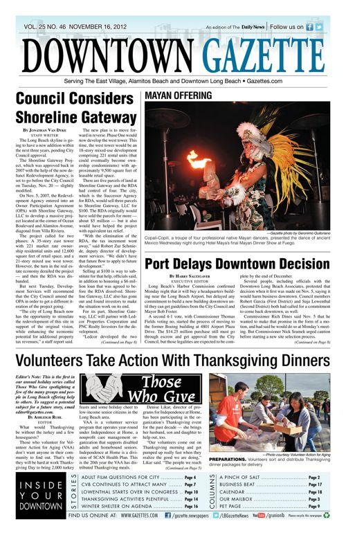Downtown Gazette  |  November 16, 2012