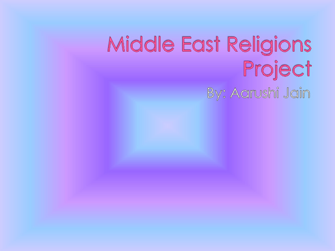 Religions Middle East Project Aarushi Jain 7th