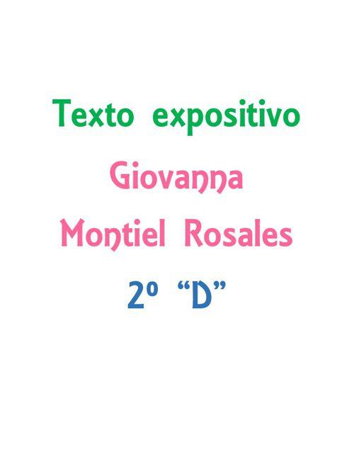 Texto expositivo - Giovanna Montiel