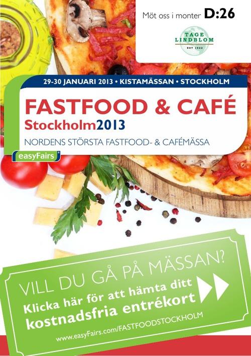 E-biljett FASTFOOD & CAFÉ Stockholm 2013 - Tage Lindblom