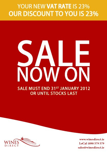 January Sale - 23% Off Selected Wines
