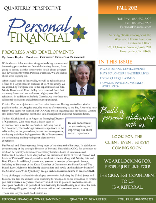 Copy of 2012 Fall Newsletter